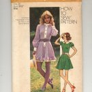 SIMPLICITY PATTERN # 9803 MISSES/TEENS/JUNIOR MINI DRESS SIZE 10 UNCUT 1971 VINTAGE OOP