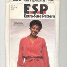 SIMPLICITY PATTERN #8676B MISSES PULLOVER DRESS W/TIE BELT SIZE 8-12 UNCUT 1978 VINTAGE OOP