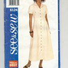 BUTTERICK SEE & SEW PATTERN # 6124 MISSES DRESS MULTI SIZE 6-22 UNCUT 1999 OOP