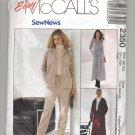 McCALL'S EASY PATTERN # 2350 MISSES JACKET PANTS DRESS SIZE 20-22 UNCUT 1999 OOP