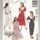 McCALL'S PATTERN # 5273 MISSES DRESS & JUMPSUIT PRINCESS SIZE 10 UNCUT 1991 OOP