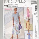McCALL'S PATTERN # 9269 MISSES DRESS AND JACKET SIZE B 8-12 UNCUT 1998 OOP