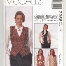 McCALL'S NANCY ZIEMAN PATTERN # 7255 MISSES LINED VESTS SIZE 10 UNCUT 1994 OOP