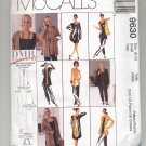 McCALL'S PATTERN # 9630 MISSES STRETCH KNIT WARDROBE SIZE 8-10 UNCUT 1998 OOP