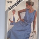 SIMPLICITY PATTERN # 5363 MISSES DRESS & JACKET SIZE N 10-14 CUT 1981 VINTAGE