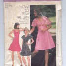 SIMPLICITY PATTERN # 6798 MISSES PRINCESS SEAM DRESS TOP SIZE 6 CUT 1974 VINTAGE