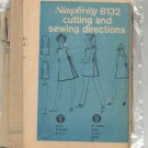SIMPLICITY PATTERN # 8132 MISSES DRESS AND PANTS SIZE 8-16 CUT 1969 VINTAGE OOP