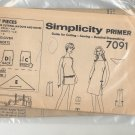 SIMPLICITY PATTERN #7091 MISSES DRESS SHORTS & SCARF SIZE 10-18 CUT 1967 VINTAGE