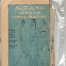 SIMPLICITY PATTERN #7591 MISSES DRESS TOP PANTS SHORTS SIZE 5-16 CUT 1968 VINTAGE