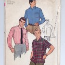 SIMPLICITY PATTERN # 7745 MENs TAPERED SPORT SHIRT NECK 15 1/2 CHEST 40 CUT 1968 VINTAGE OOP