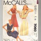McCALL'S SUE WANG PATTERN # 7060 MISSES DRESS APPLIQUE & BELT SIZE 10 CUT 1980 VINTAGE OOP