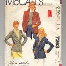 McCALL'S PALMER & PLETSCH PATTERN # 7263 MISSES JACKET SIZE 8 CUT 1980 VINTAGE OOP