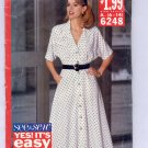 BUTTERICK SEE & SEW PATTERN # 6248 MISSES FLARED DRESS SIZE 6-14 CUT 1992 OOP