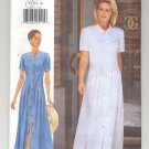 BUTTERICK PATTERN # 4877 MISSES FRONT BUTTON UP DRESS SIZE 12-16 CUT 1997 OOP