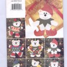 BUTTERICK HOT STUFF PATTERN # 4604 CHRISTMAS BEAR ORNAMENTS CUT 1996 OOP