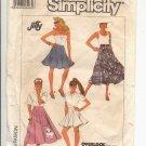 SIMPLICITY PATTERN # 8629 MISSES CIRCLE POODLE SKIRT IN THREE LENGTHS SIZE 6-10 CUT 1988 VINTAGE OOP