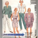 McCALL'S PATTERN #5884 MISSES JACKET TOP PANTS & SHORTS SIZE 10-14 CUT 1992 OOP