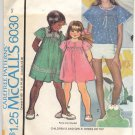 McCALL'S PATTERN # 6030 GIRLS DRESS OR TOP SIZE 3 CUT 1978 OOP VINTAGE