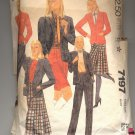 McCALL'S PATTERN # 7197 MISSES JACKET PANTS SKIRT & SHORTS SIZE 10 CUT 1980 VINTAGE OOP