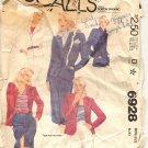 McCALL'S PATTERN # 6928 MISSES JACKET PANTS SKIRT & SHORTS SIZE 10 CUT 1980 VINTAGE OOP