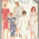 McCALL'S EASY PATTERN # 2431 MISSES DRESS WITH DRAPED FRONT SIZE 10 CUT 1986 OOP