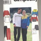 SIMPLICITY PATTERN #8430 MISSES/MENS/TEENS SWEAT PANTS TOP SHORTS SIZE XS-MD CUT OOP