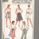 SIMPLICITY PATTERN # 8578 MISSES PULL ON PANTS SKIRT & SHORTS SIZE SM CUT 1988 OOP