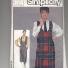 SIMPLICITY PATTERN # 6984 MISSES JUMPER AND SHIRT SIZE 6-10 CUT 1985 OOP ~ VINTAGE