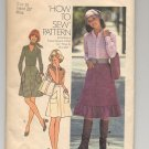 SIMPLICITY PATTERN # 7120 MISSES/JR/TEEN SKIRT & BAG SIZE 10 CUT 1975 VINTAGE OOP ~ VINTAGE