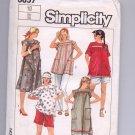 SIMPLICITY PATTERN # 6857 B MATERNITY PANTS SHORTS TOP OR DRESS SIZE 10 P/CUT 1985 OOP ~ VINTAGE