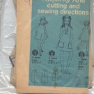 SIMPLICITY PATTERN # 7616 B GIRLS DRESS & SHORTS SIZE 7-14 CUT 1968 OOP VINTAGE