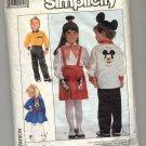 SIMPLICITY WALT DISNEY PATTERN #8260 CHILD SHIRT PANTS SKIRT W/ MICKEY TRANSFERS SIZES 3-5 1987 OOP