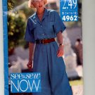 BUTTERICK SEE & SEW PATTERN # 4962 MISSES TOP & CULOTTES SIZE 14-18 CUT 1990 OOP