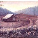 1997 PRINT #28: OLD CABIN WITH CORN FIELD IN FRONT 8 X 10 MINT
