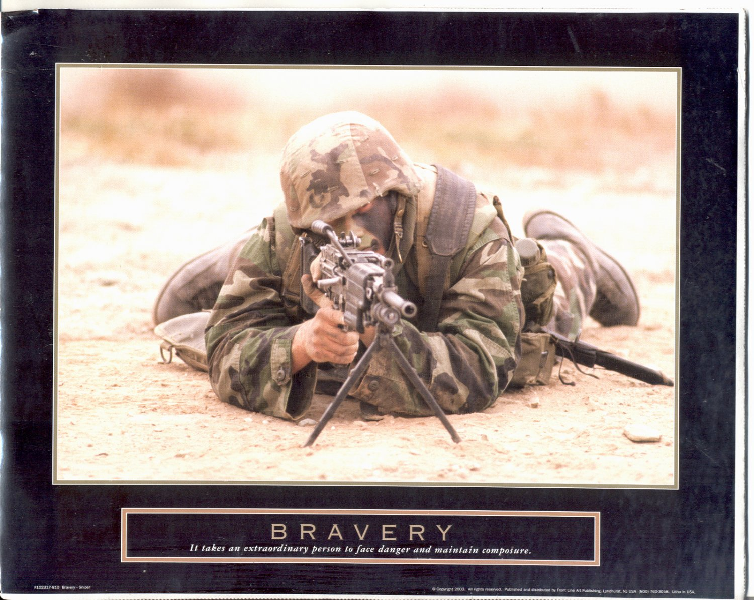 2003 PRINT #17: MILITARY: BRAVERY - IT TAKES AN EXTRAORDINARY PERSON 8 X 10 NEAR MINT