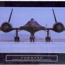 "2003 PRINT #16A: MILITARY STEALTH AIRPLANE: COMMAND ""BLACKBIRD"" MINT"