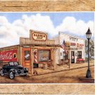 1997 PRINT #08:  COCA COLA COKE BARBER SHOP AND VARIETY STORE 8 X 10 MINT