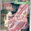 CROCHET WORLD - OVER 25 SPRINGTIME CROCHET DESIGNS BACK ISSUE MAGAZINE APRIL 1988 NEAR MINT