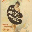 ART NOUVEAU POST CARD JULIUS PRICE PARIS 1895 DALY'S THEATER MUSIC HALL 1994 MINT