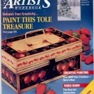 DECORATIVE ARTIST'S WORKBOOK MAGAZINE ~ 5 FAUX FINISHES ~ FEBRUARY 1994 VG
