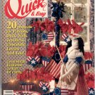 QUICK & EASY CROSS STITCH BACK ISSUE CRAFTS MAGAZINE JUNE - JULY 1991 MINT