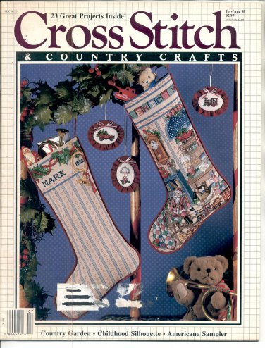 CROSS STITCH & COUNTRY CRAFTS BACK ISSUE MAGAZINE JULY AUGUST 1988 NEAR MINT