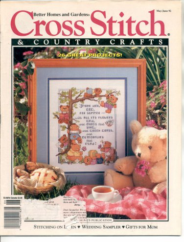 "CROSS STITCH & COUNTRY CRAFTS BACK ISSUE MAGAZINE MAY JUNE 1992 VG/NEAR MINT ""C"""