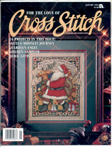 FOR THE LOVE OF CROSS STITCH BACK ISSUE CRAFTS MAGAZINE 24 PROJECTS JANUARY 1994 NEAR MINT