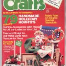 CRAFTS MAGAZINE BACK ISSUE ~ DECEMBER 1986 WITH FULL SIZE PATTERNS NEAR MINT