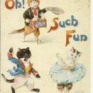 OH, SUCH FUN - CAT COLOR POSTCARD # 11 UNUSED 1994 NEAR MINT