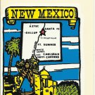 VINTAGE STYLE TRAVEL VINYL DECAL STICKER AUTO TRUCK ~ # 130 NEW MEXICO SPANISH STATE # 2 ~ NOS