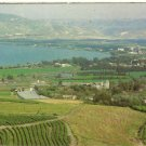 VINTAGE SEA OF GALILEE TIBERIAS (TIBERIUS) ISRAEL COLOR POSTCARD UNUSED 1992 NMINT # 02