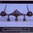 "2003 PRINT #16B: MILITARY STEALTH AIRPLANE: COMMAND ""BLACKBIRD"" NEAR  MINT"