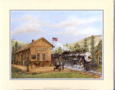 2002 PRINT #13B: PINE VALLEY STATION  8 X 10 NEAR MINT NEW OLD STOCK